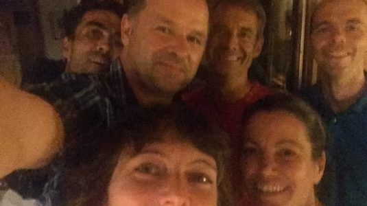 With Emily Hague and partner, Zach Smith, Elizabeth Long, and Richard Pendleton